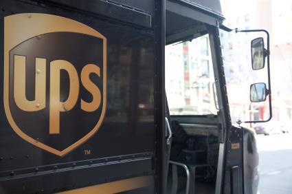 UPS van franchise brand delivery mail